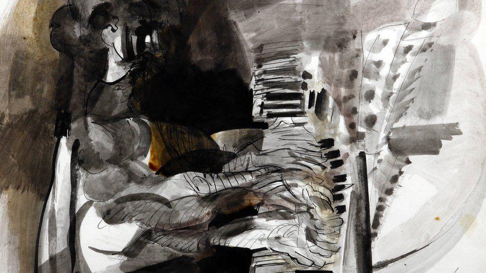 'The Pianist' gan Ceri Richards