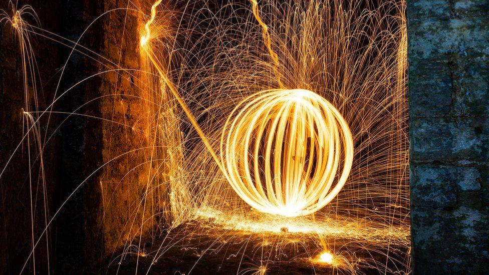 Steel wool photograph
