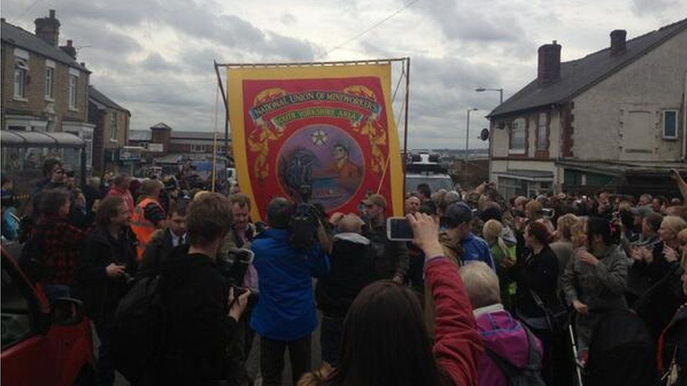 National Union of Mineworkers banner