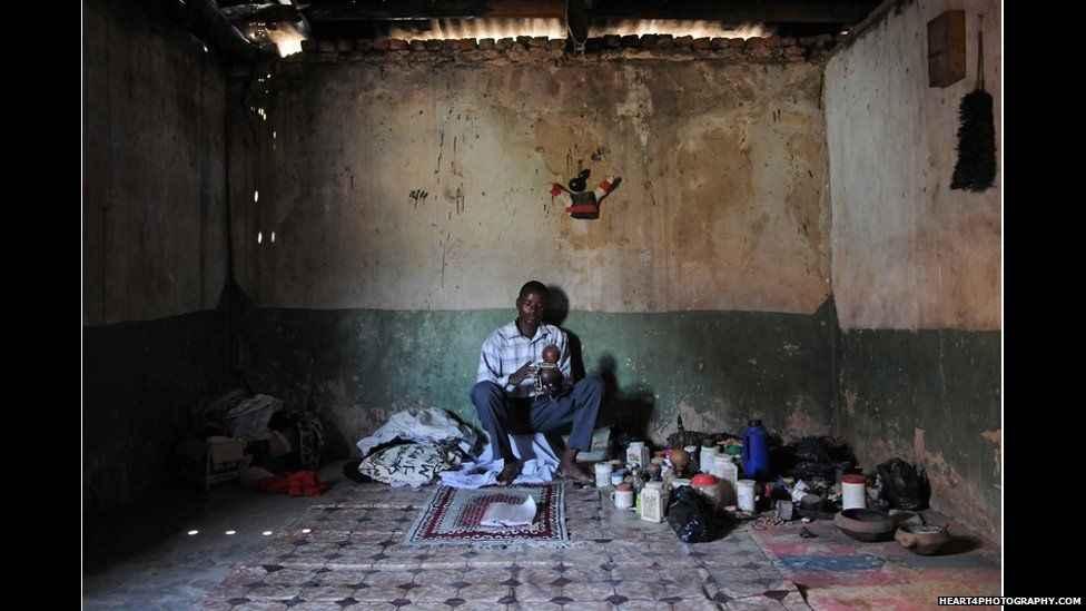 Traditional healer in southern Tanzania