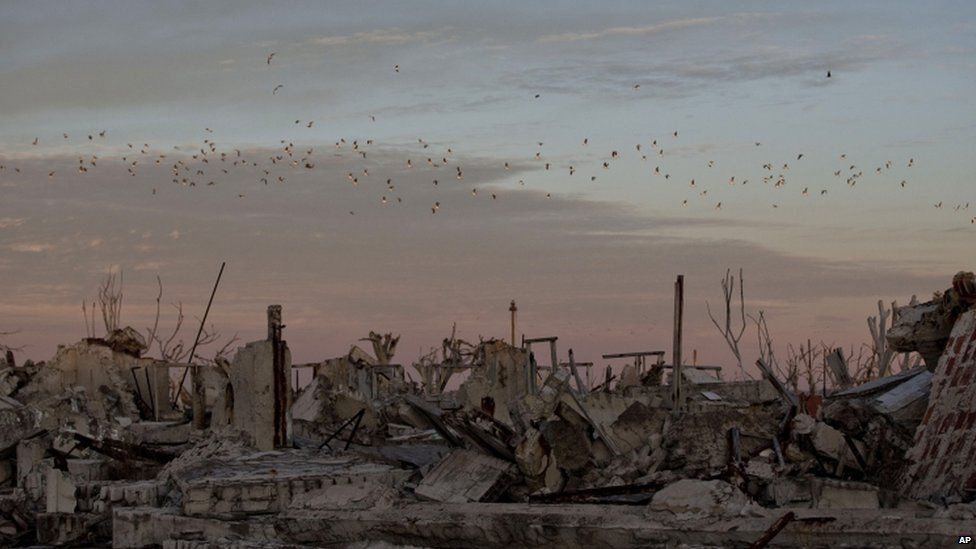 Ruins of Epecuen, Argentina, on 7 May 2013
