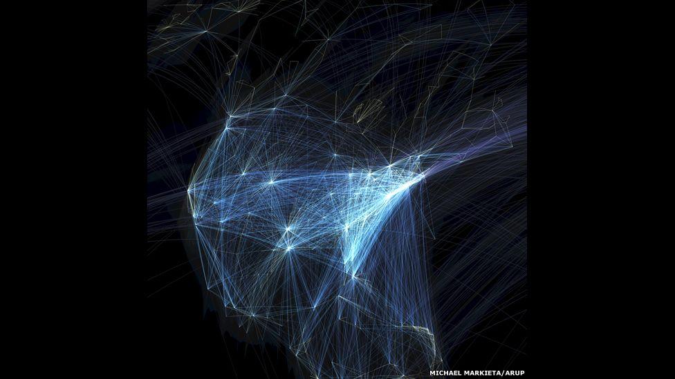 Global flights, North America.