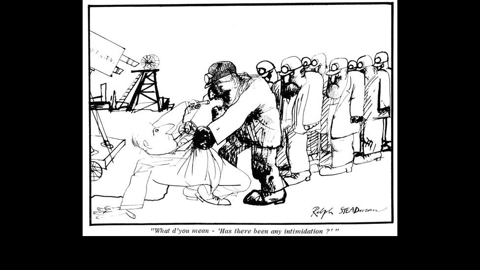 """""""What d'you mean - 'Has there been any intimidation?'"""" by Ralph Steadman"""