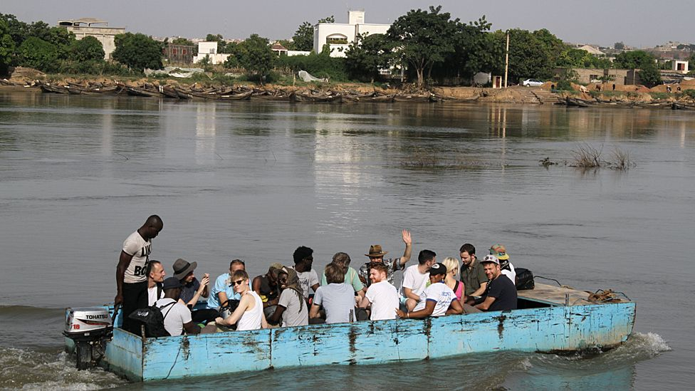 Africa Express crossing the Niger River. Photo taken by Manuel Toledo, BBC Africa