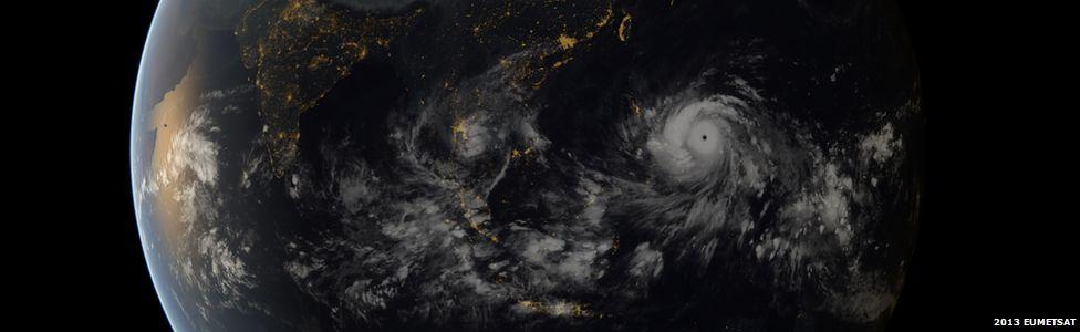 EUMETSAT image of Super Typhoon Haiyan