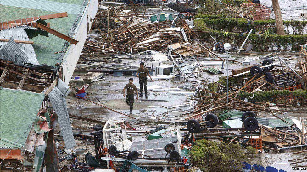 Devastation at Tacloban airport after Typhoon Haiyan. 9 Nov 2013