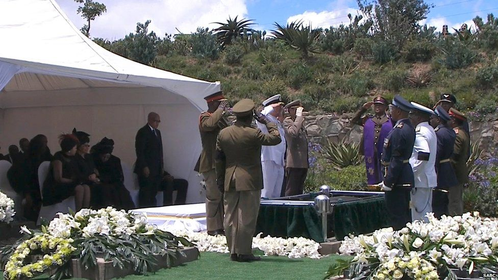Nelson Mandela in laid to rest