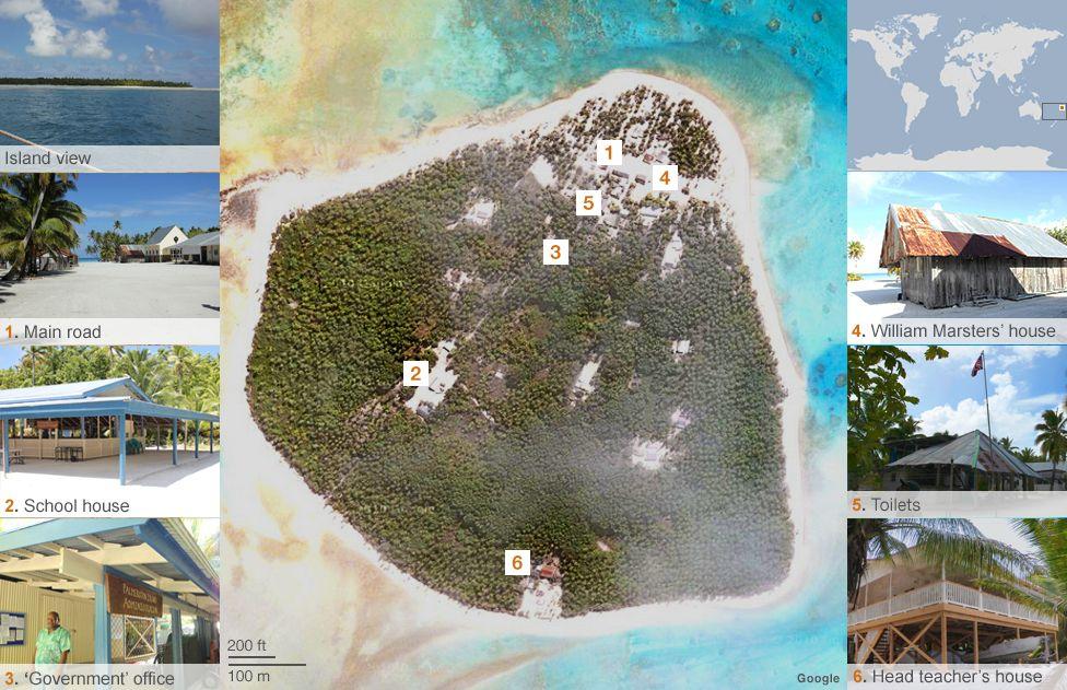Palmerston island map