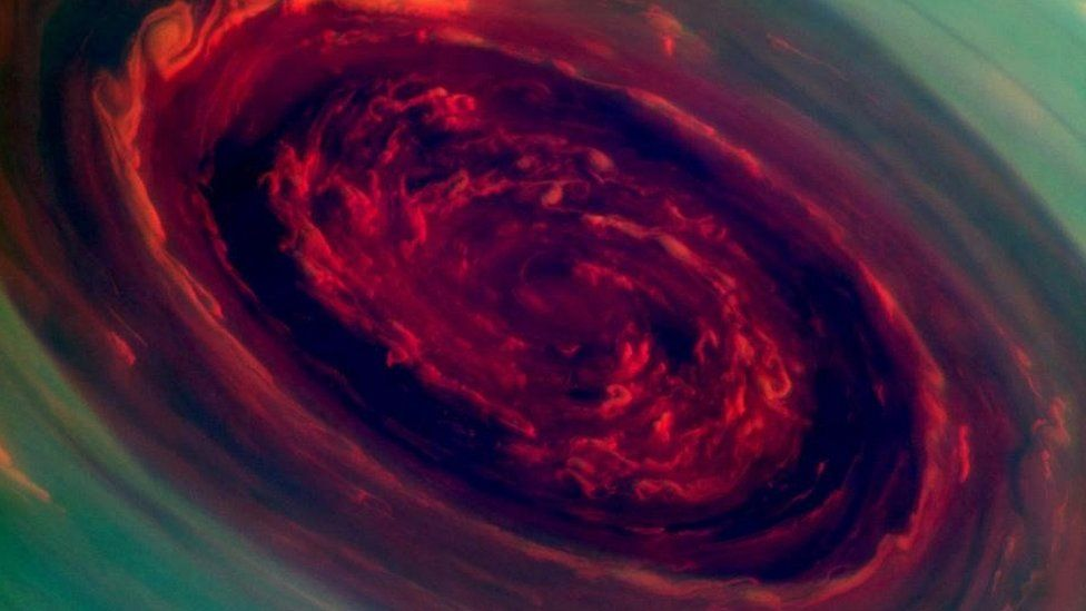 Storm at Saturn's north pole