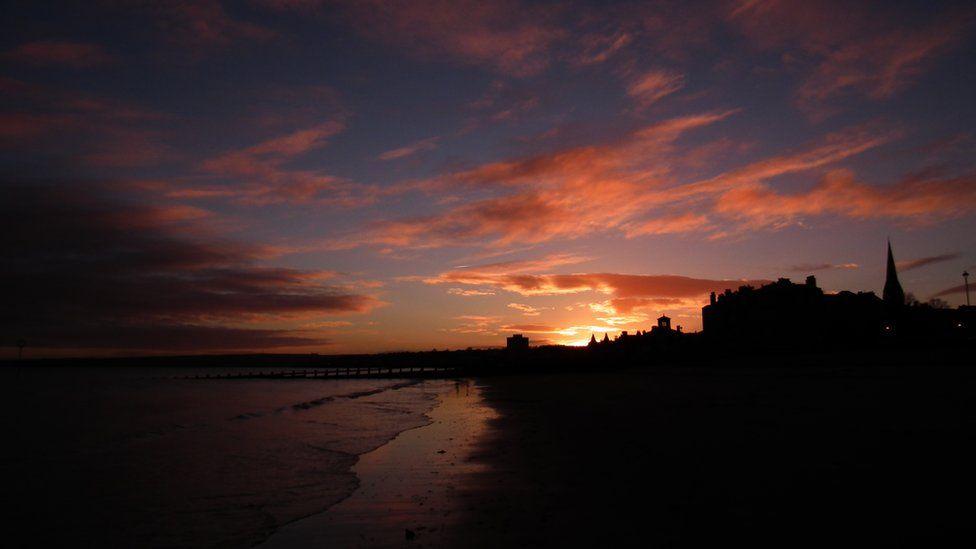 Sunrise over Portobello