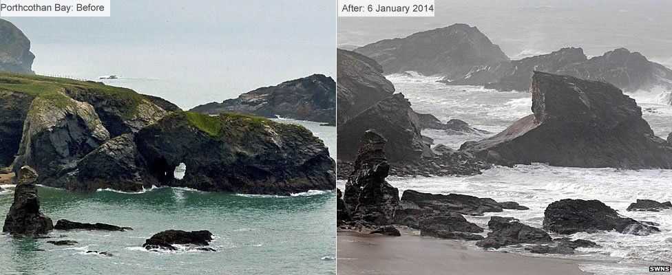 Before and after - Porthcothan