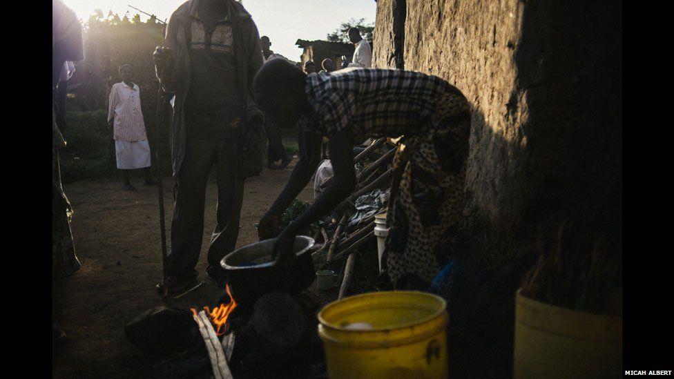 A busaa brewer in western Kenya