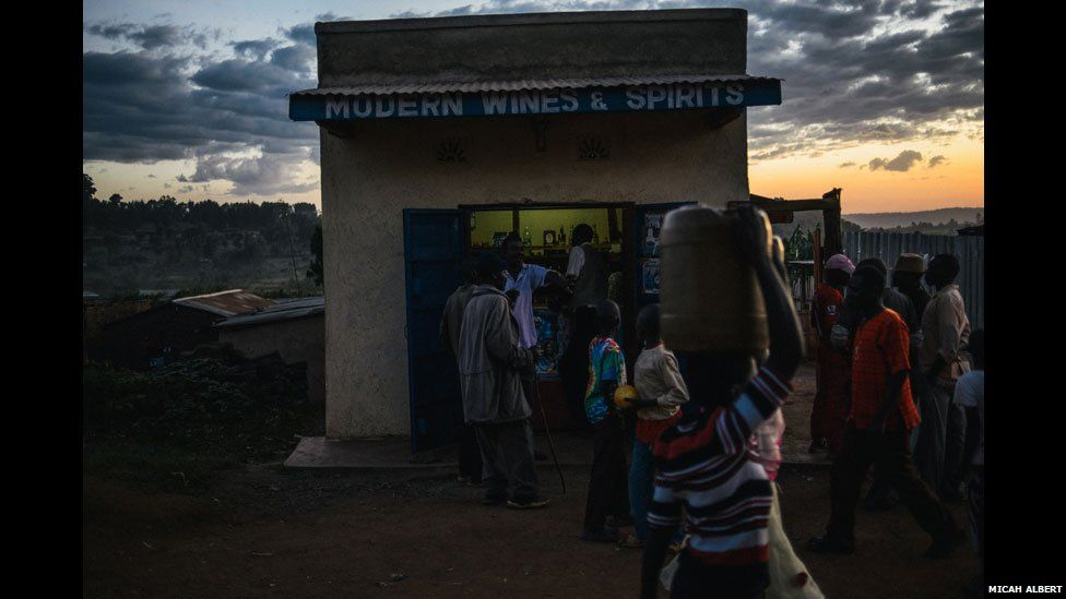 "A shop called ""Modern Wines & Spirits"" in a village in western Kenya which is licensed to sell alcohol"