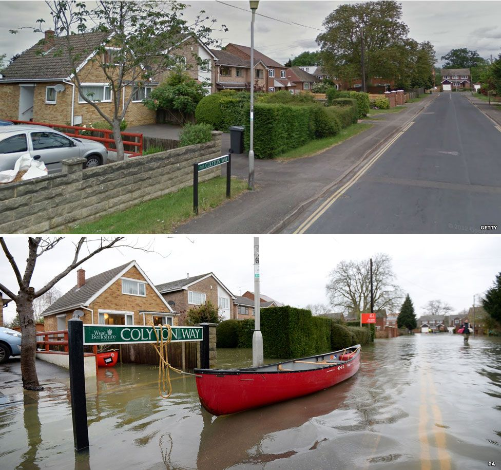 Purley-On-Thames, Berkshire, in the floods