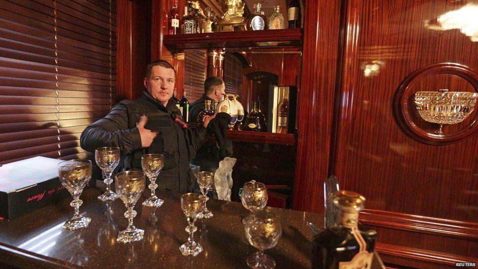 Bar inside president's residence