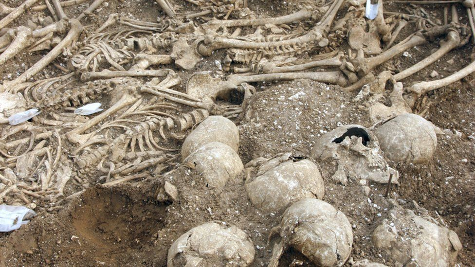 Mass grave in Weymouth
