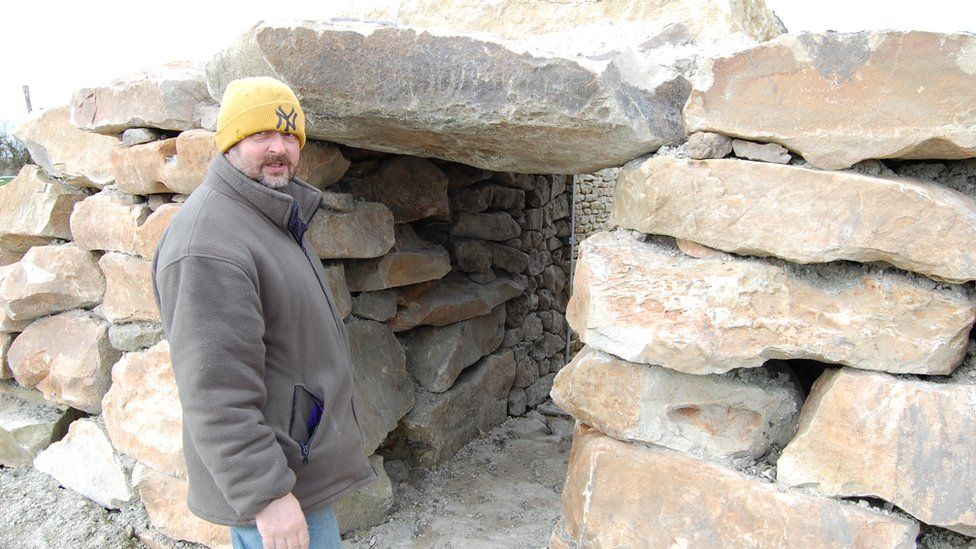 Tim Daw at All Cannings long barrow