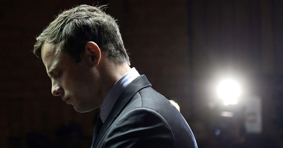 Oscar Pistorius at his trial