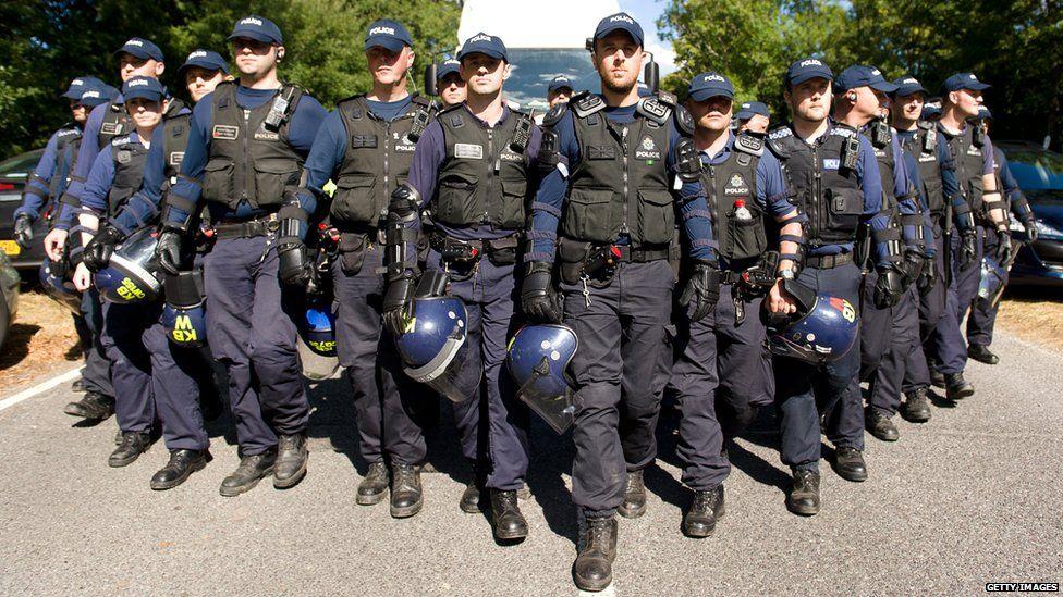 Police at Balcombe protest