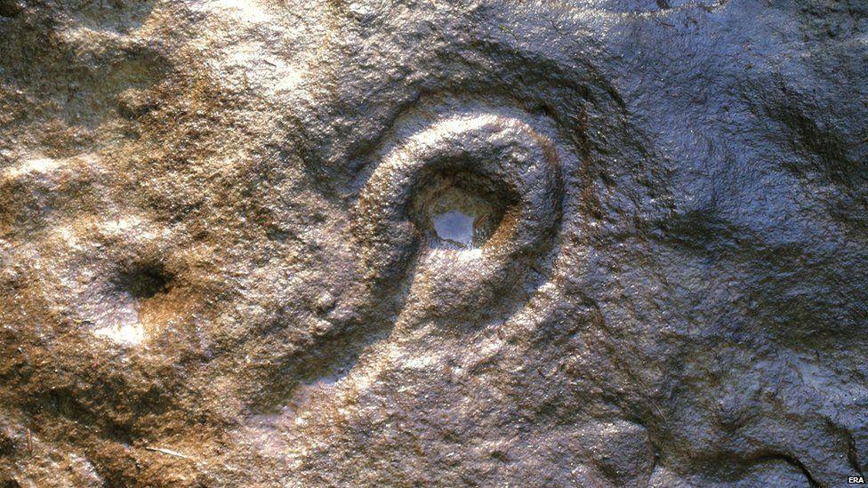 Wellhope rock carving