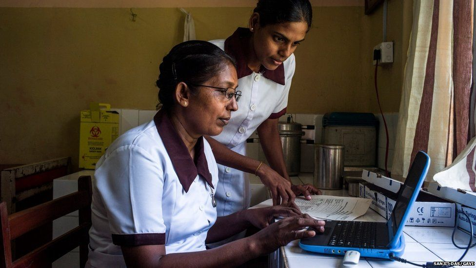 Nurses in Sri Lanka