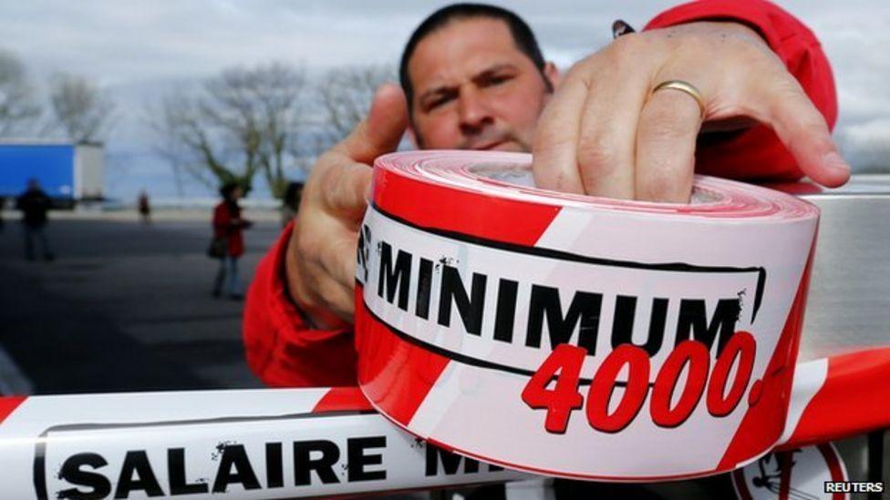 World's highest minimum wage: Switzerland votes