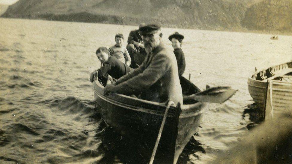 Aurora in Portree Bay in 1912
