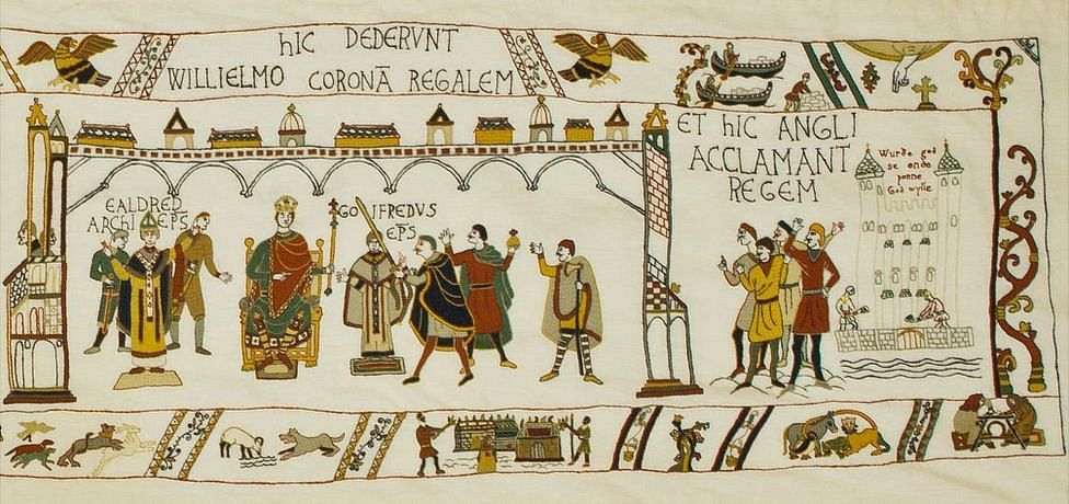 Final panel of Alderney Bayeux Tapestry