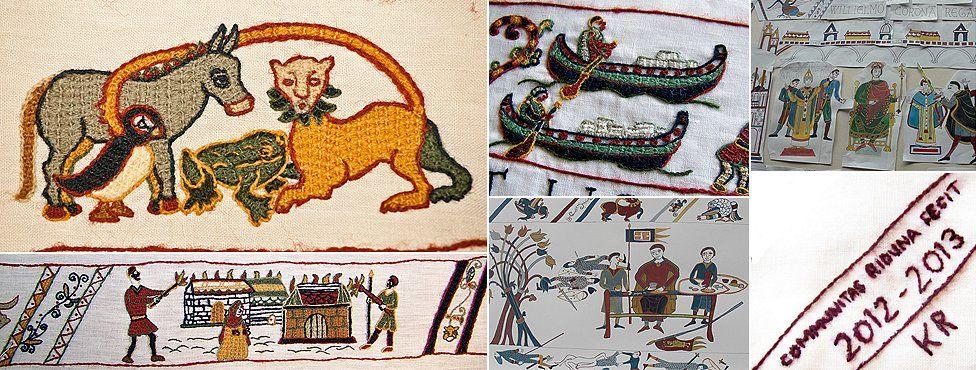 Alderney final panel of Bayeux Tapestry