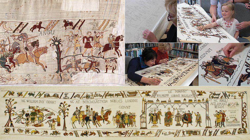 Alderney final panel of Bayeux Tapestry Bayeux