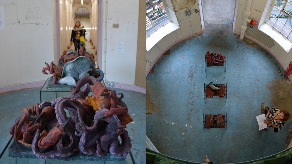 Peter Wachtler - Sculpture #1 (Octopus), Sculpture #2 (Eel), Sculpture #3 (Ray) at Liverpool Biennial