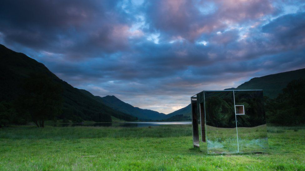 Mirrored look-out point in the Trossachs