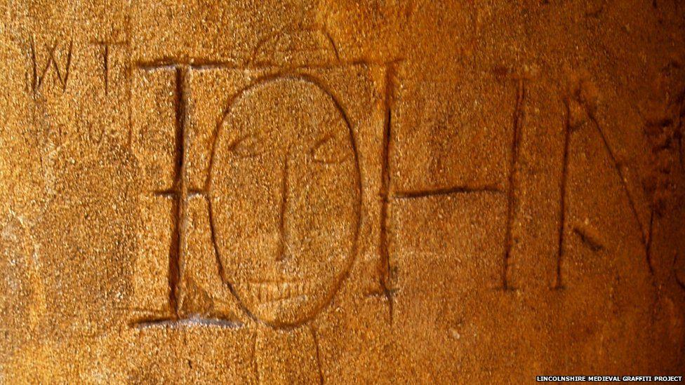 Graffiti found in Lincoln Cathedral