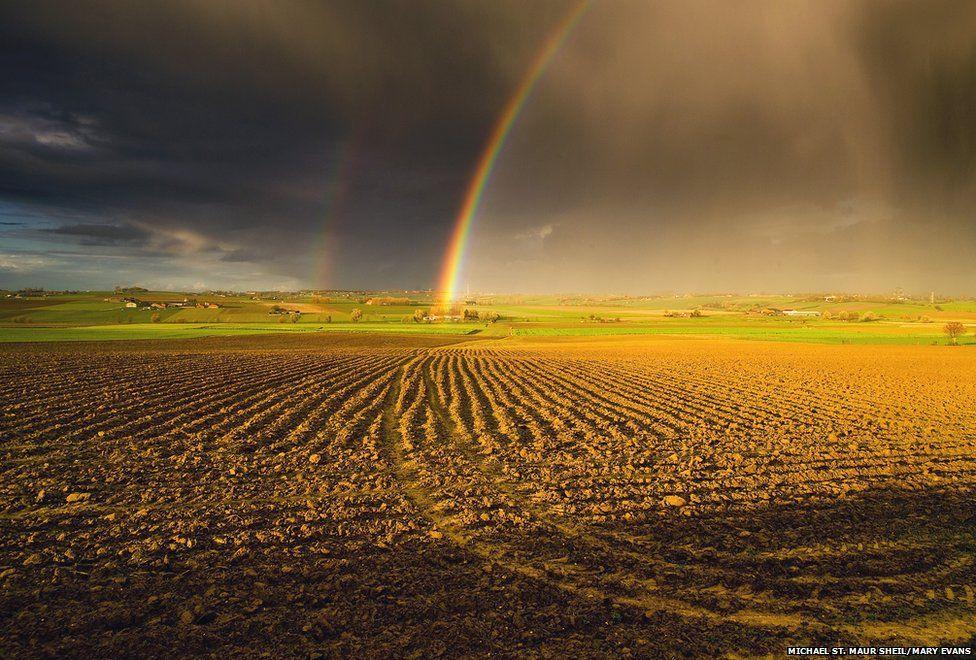 Rainbow over Messines Ridge