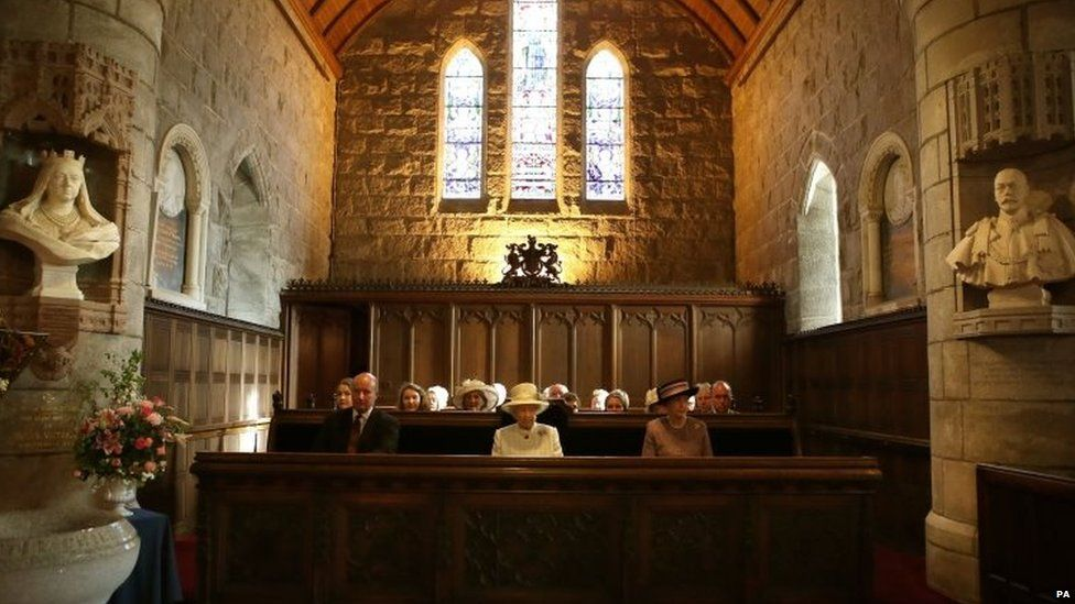 The Queen attends a service at Crathie Kirk Church in Crathie, Aberdeenshire