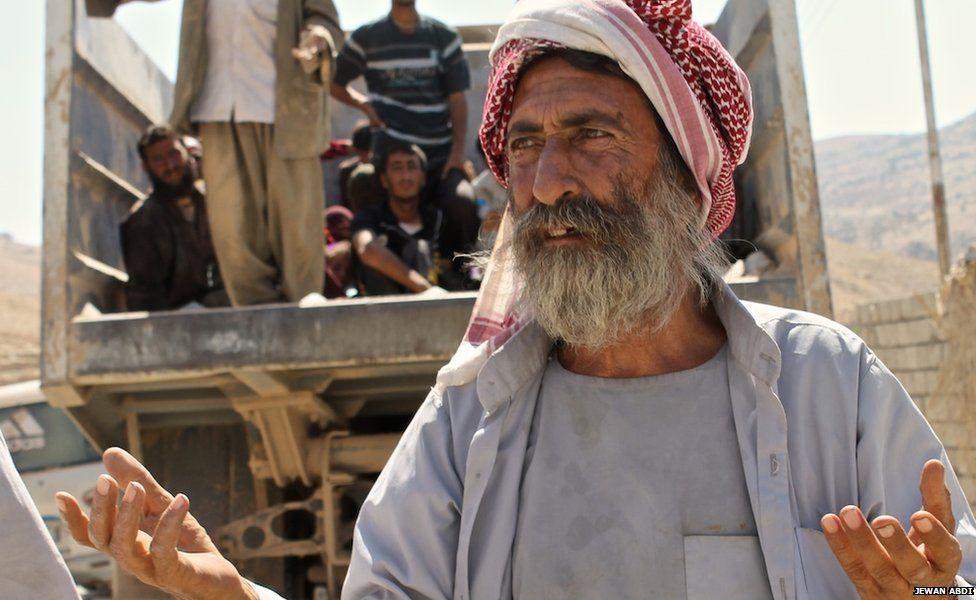 Khidier Shamo, a 65-year-old Yazidi refugee, on 15 August 2014