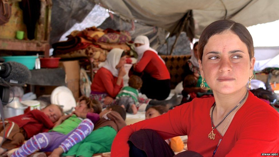 Amina Kalo, an 18-year-old from Sinjar mountain, on 15 August 2014