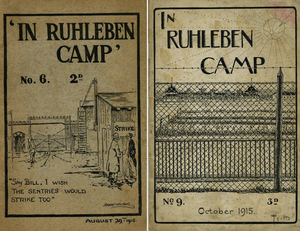 Covers of two camp magazines