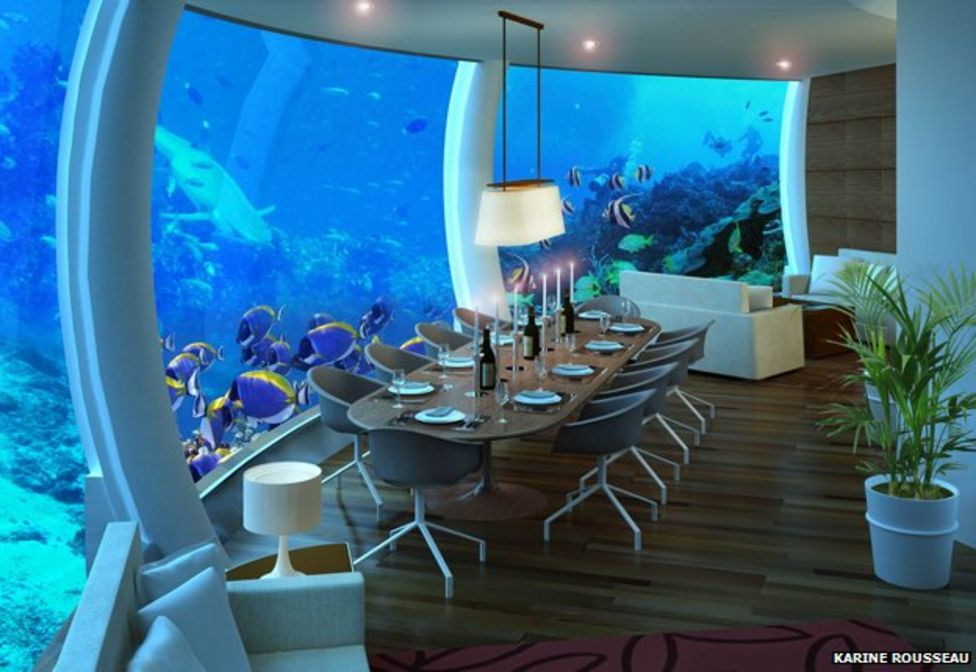 Homes where you can live under the sea