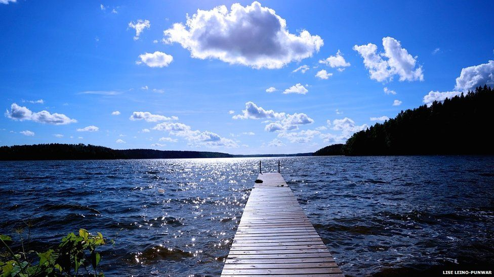 A beautiful day by the lake, Finland