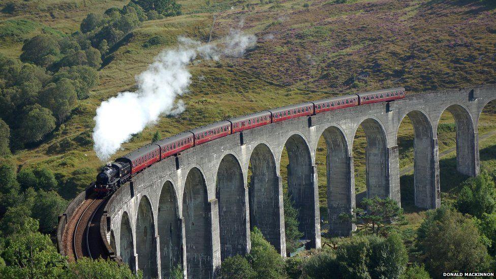 Train on Glenfinnan Viaduct