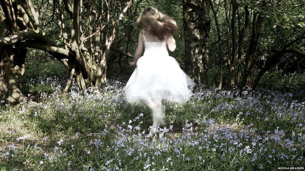 Dancer in the woods