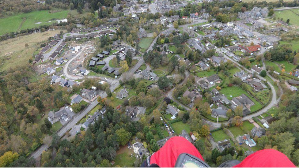 Aerial view of Braemar