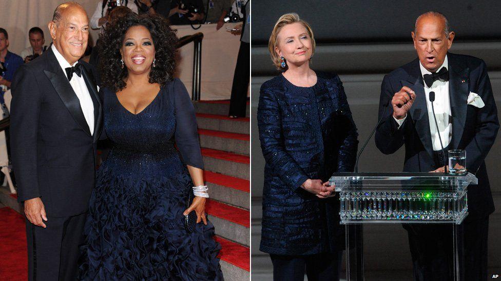 Oscar de la Renta with Oprah Winfrey and Hilary Clinton