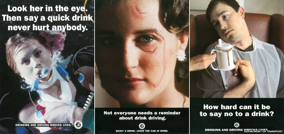 Campaigns from the 1980s aimed to show that drink-driving was not a 'victimless' crime