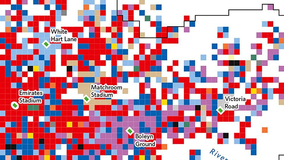 London's football clubs by popularity on Twitter (Aug 2013 - May 2014) (source: Twitter, Guy Lansley and Muhammad Adnan from UCL)