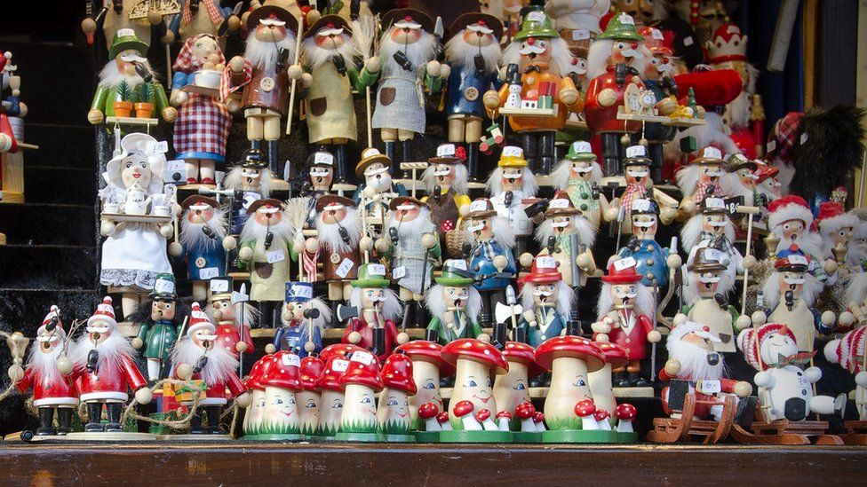 Items for sale at the German market