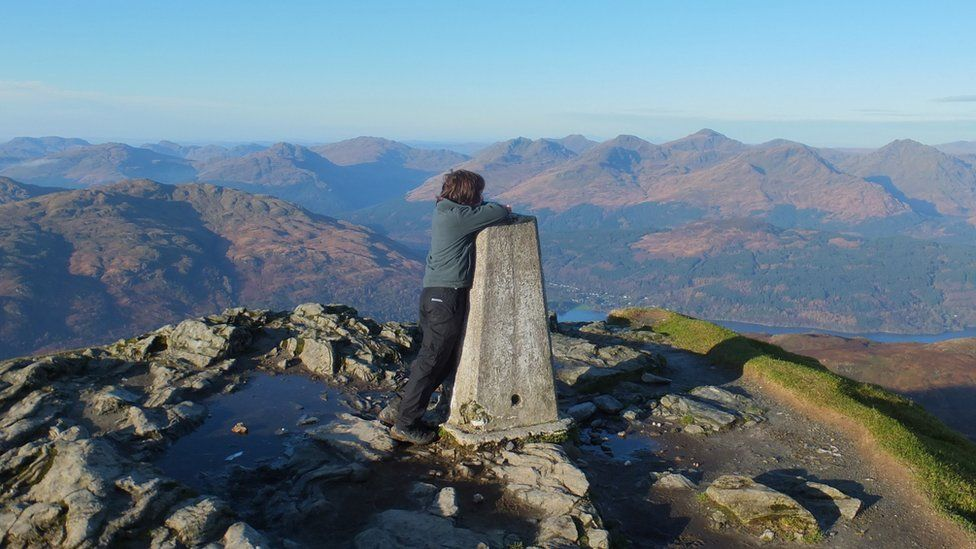 Kieran on Ben Lomond