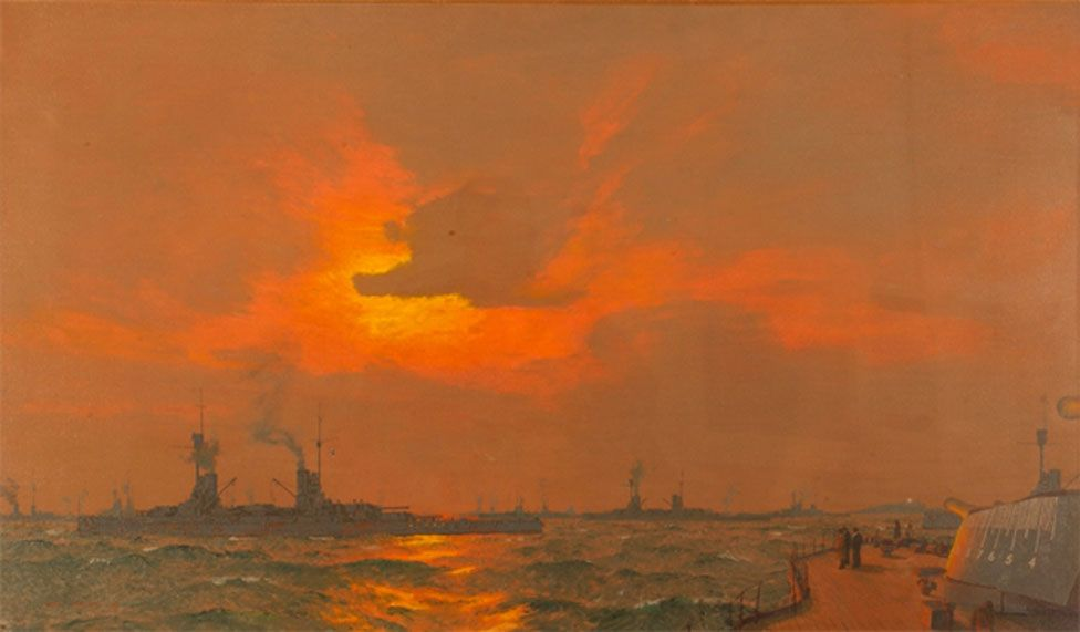 Painting of the German surrender by Charles Pears