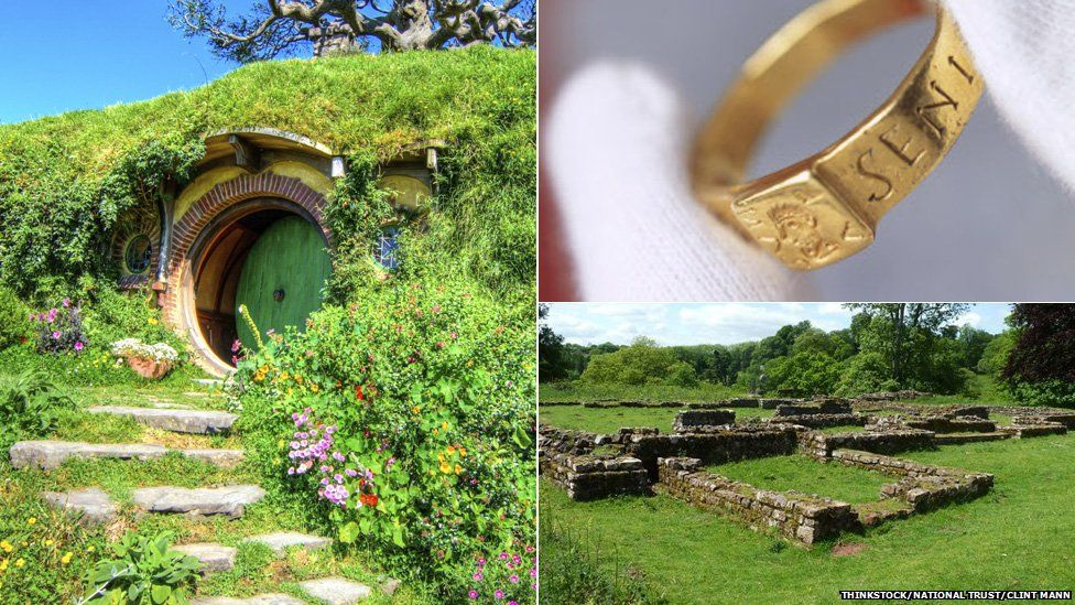 Hobbit hole, ring and Temple ruins